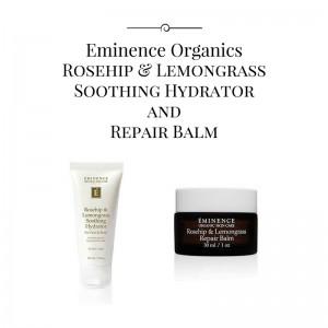 eminence organics rosehip and lemongrass products highlights