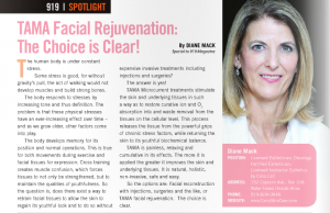 TAMA Face Rejuvenation article in 919 Magazine