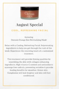 cool refreshing facial special in august