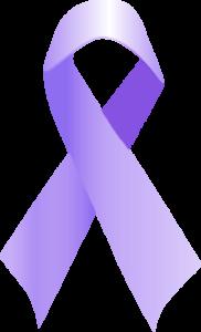 lavendar cancer ribbon 300h
