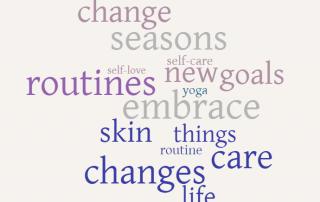 caris word cloud change seasons routines